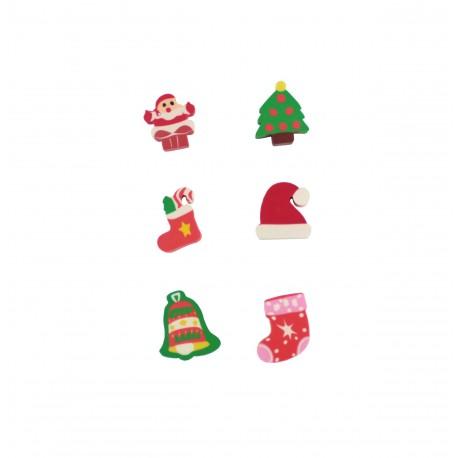 Kit de gommes spécial Noël 1 édition jaune
