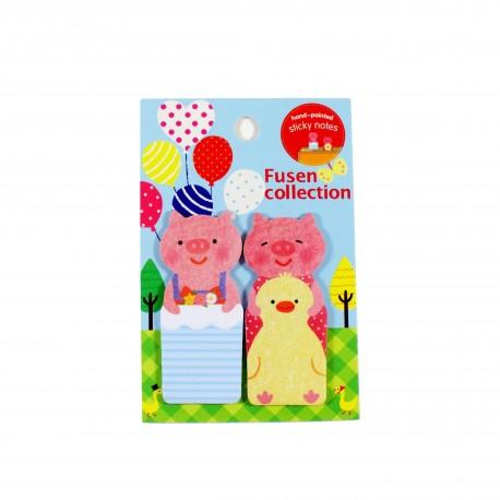 Marque pages repositionnables Deux petits cochons