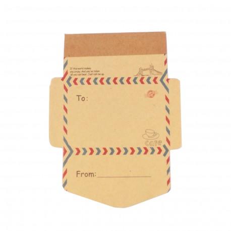 Bloc de notes - Mini enveloppe - Café