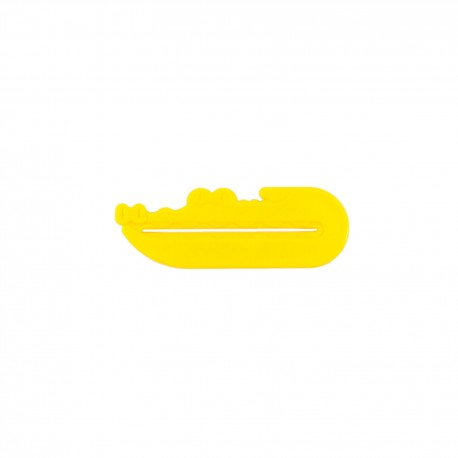 Presse tube dentifrice - Crocodile - jaune