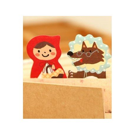 Marque pages repositionnables Petit Chaperon rouge et le loup