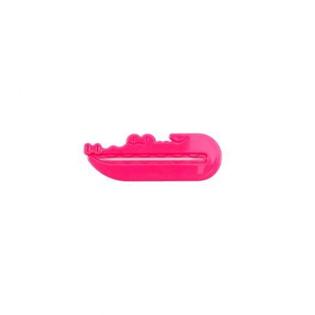 Presse tube dentifrice - Crocodile - rose foncé