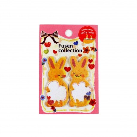 Marque pages repositionnables Deux petits lapins mignons