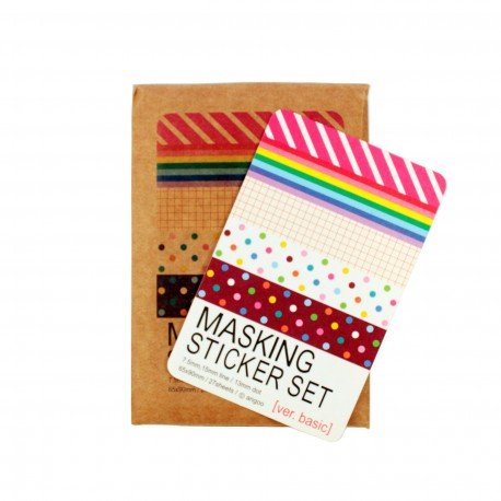Pack Masking tape - Couleurs vifs