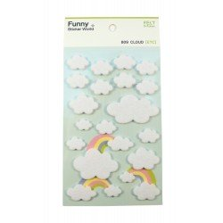 Sticker - Nuages blancs