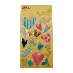 Sticker - Coeurs purs