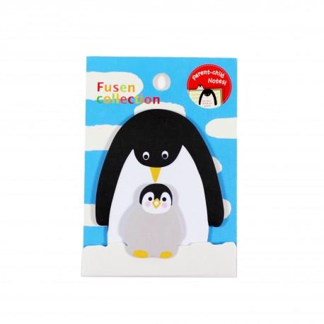 Kit de bloc notes et marque pages repositionnables Pingouins