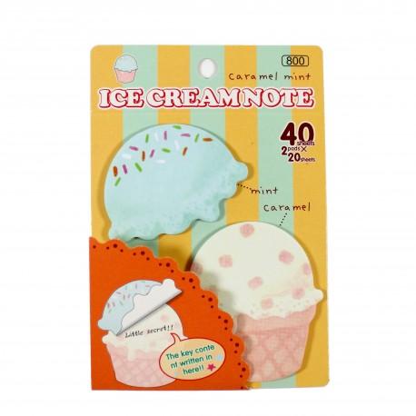 Bloc notes repositionnables Icecream Menthe-Caramel