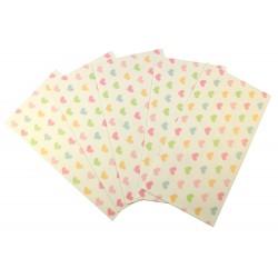 Pochette cadeau - Coeurs doux en couleur pastel