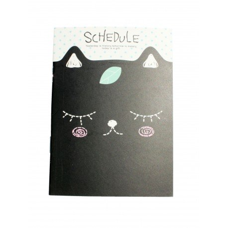 Carnet kawaii du chat rougi