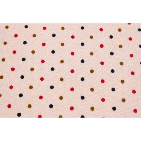 Tissu autocollant à motif petits pois orangés