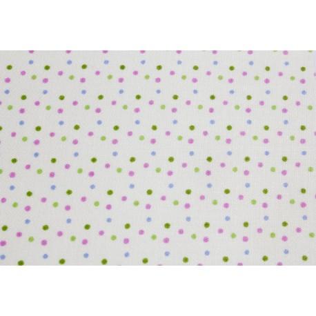 Tissu autocollant à motif petits pois couleur printemps
