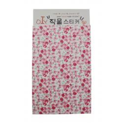 Tissu autocollant à motif floral