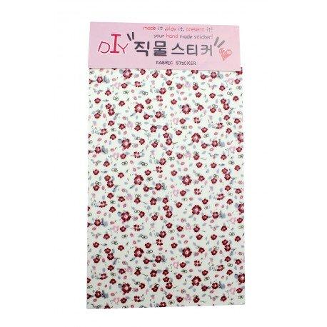 Tissu autocollant à motif des petites fleures