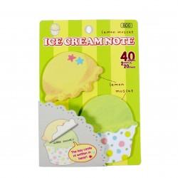 Bloc notes repositionnables Icecream Lemon
