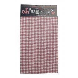 Tissu autocollant à motif carré