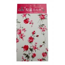 Tissu autocollant à motif des roses