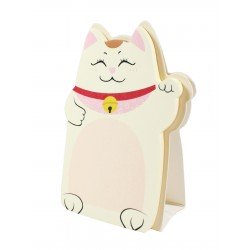 Memo repositionnable Chat Maneki neko chat couleur rose