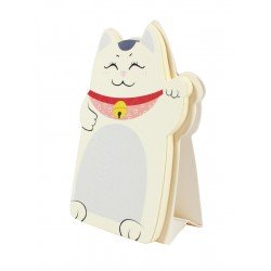 Memo repositionnable Chat Maneki neko couleur violet lavande