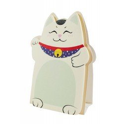 Memo repositionnable Chat Maneki neko chat couleur vert kaki