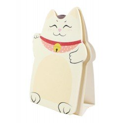 Memo repositionnable Chat Maneki neko chat jaune