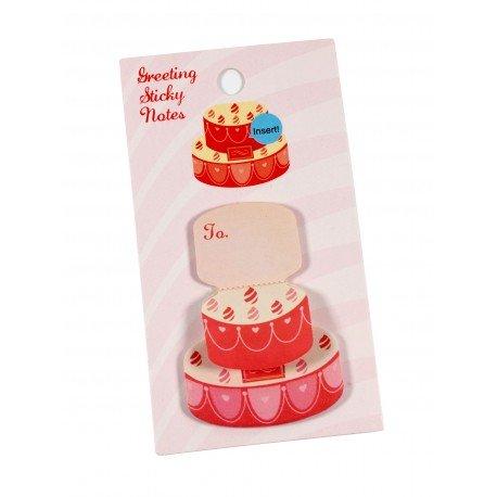 Mini notes repositionnables en forme de gâteau d'anniversaire