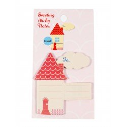 Mini notes repositionnables en forme de maisonnette