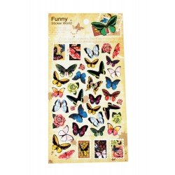 Sticker - papillons couleurs