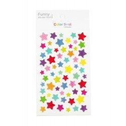 Sticker - Étoiles multicouleurs
