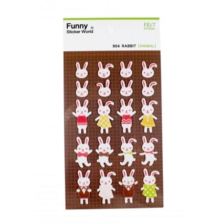 Sticker - lapins dansent