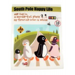 Protège documents A4 en plastique South pole happy life pingouins traversent la route