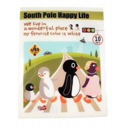 Protège documents A4 en plastique South pole happy life pingouins traversent la route