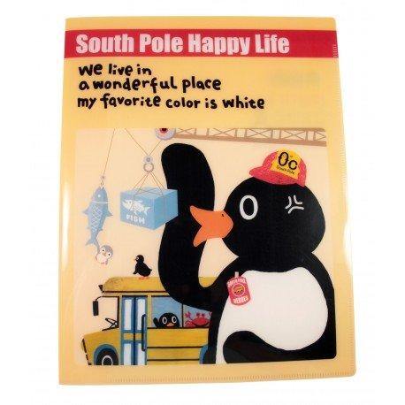 Protège documents A4 en plastique South pole happy life pingouins et la pêche aux poissons