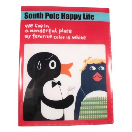 Protège documents A4 en plastique South pole happy life pingouins et sa copine