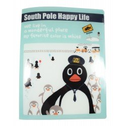 Protège documents A4 en plastique South pole happy life pingouins chef de train et les petits pinguoins