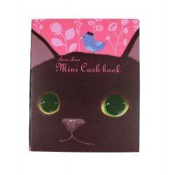 Kakeibo carnet de comptes domestiques chat noir et oiseau bleu