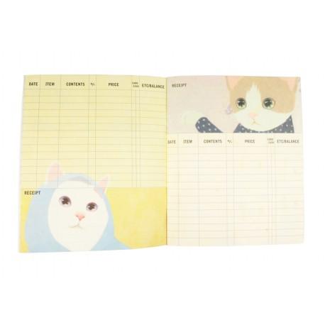 Kakeibo carnet de comptes domestiques chat noir et fleurs