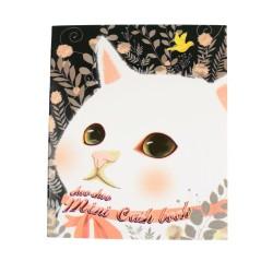 Kakeibo carnet de comptes domestiques chat blanc et colombe d'or