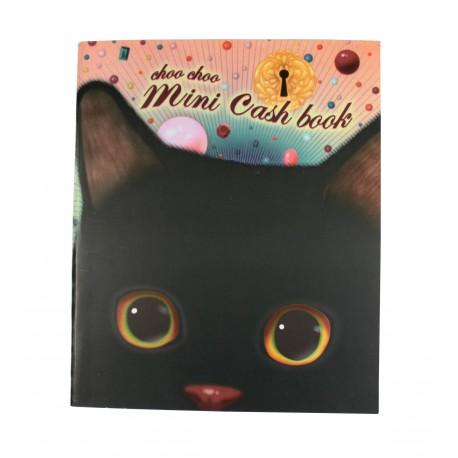 Kakeibo carnet de comptes domestiques chat noir et regard innoncent