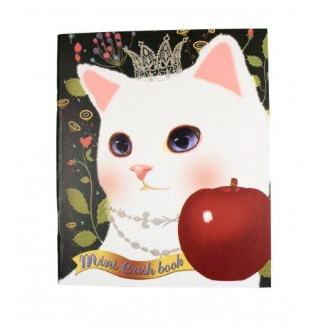 Kakeibo carnet de comptes domestiques chat blanc et pomme rouge