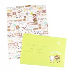 Papier à lettre & enveloppe assorti ourson et lapin kawaii
