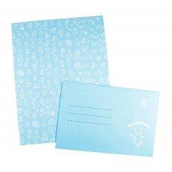 Papier à lettre & enveloppe assorti dessin ourson kawaii